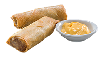 2 Cheeseburger Spring Rolls Cheese Dipping Sauce