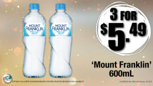 bottled water special