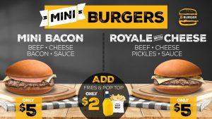 X Burgers bacon burger