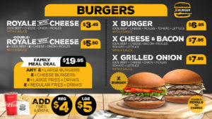 Burgers and Family Meal Deals