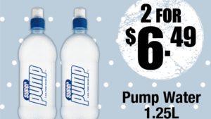 pump water x convenience